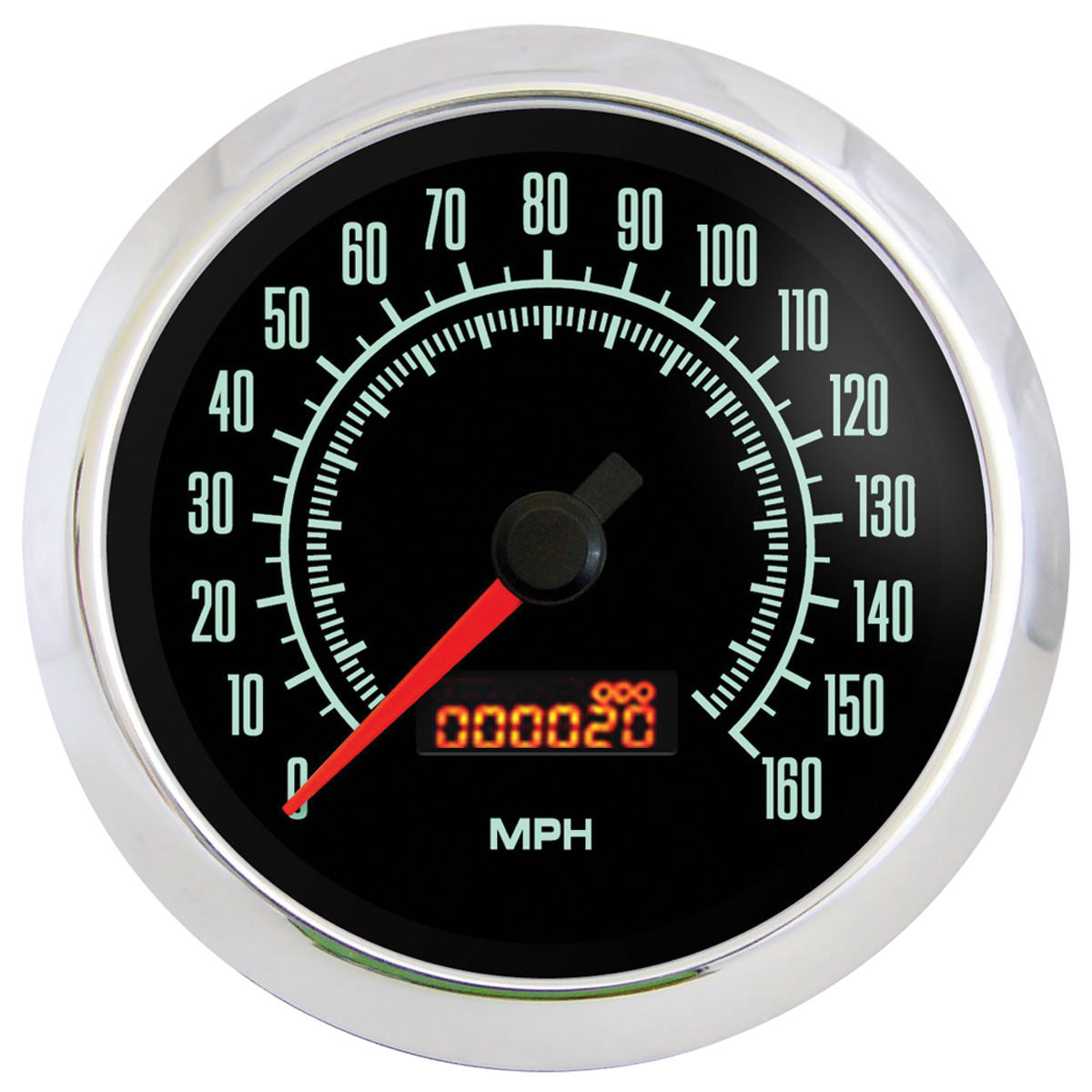 "Photo of Gauge, Retro Muscle (3-3/8"" Speedometer - 160 MPH)"