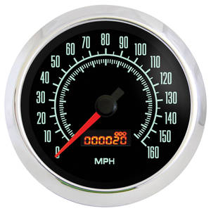 "1961-1977 Cutlass Gauge, Retro Muscle 3-3/8"" Speedometer (160 Mph), by Marshall Instruments"