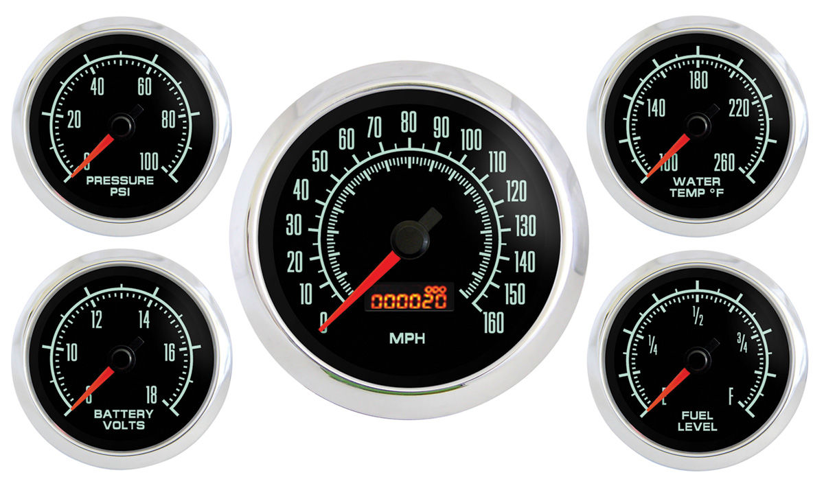 Photo of Skylark Gauge, Retro Muscle 5-piece w/speedometer