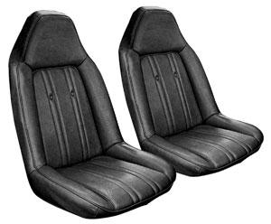 Monte Carlo Seat Upholstery, 1973-74 Elk Grain (Front Buckets)