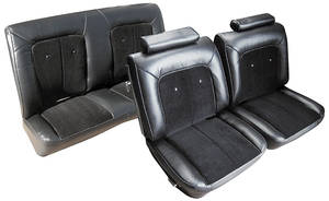 Monte Carlo Seat Upholstery, 1975-77 Velour (Front Split Bench & Rear Seat - without Armrest & Headrest)