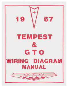 1967 GTO Wiring Diagram Manuals