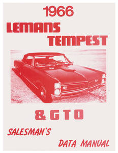 1970 Tempest Salesman's Data Manual