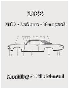 1966-1966 LeMans Pontiac Molding & Clip Manuals