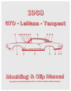1968-1968 LeMans Pontiac Molding & Clip Manuals