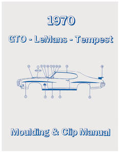1970 GTO Pontiac Molding & Clip Manuals