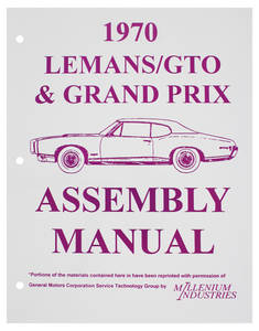 1970 Tempest Factory Assembly Line Manuals