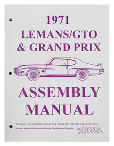 1971 GTO Factory Assembly Line Manuals