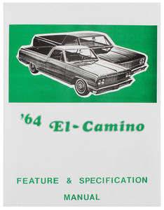 1964-1964 El Camino Illustrated Facts Manual El Camino