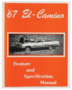1967 Illustrated Facts Manual El Camino