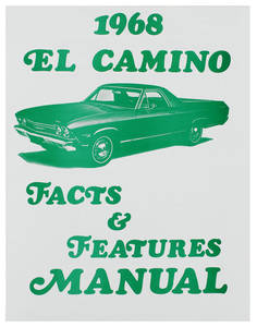 1968 Illustrated Facts Manual El Camino