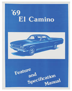 1969 Illustrated Facts Manual El Camino