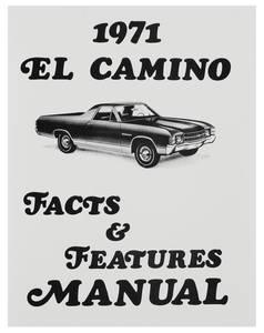 1971-1971 El Camino Illustrated Facts Manual El Camino