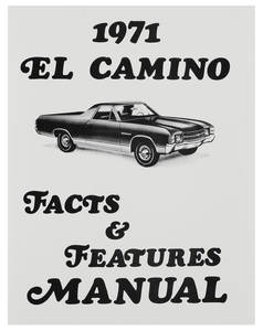 1971 Illustrated Facts Manual El Camino