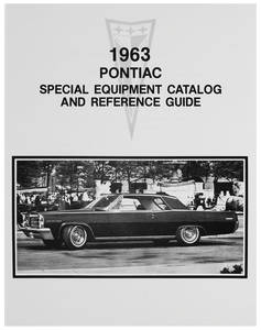 1963 Bonneville Pontiac Special Equipment Catalog & Reference Guide