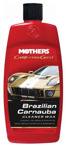 1978-1983 Malibu California Gold Brazilian Carnauba Cleaner Wax Liquid, 16-oz., by Mothers