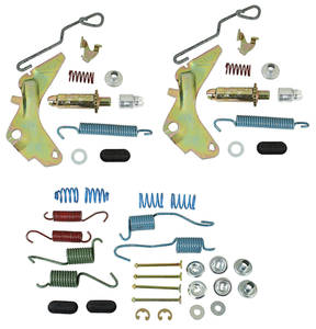 1964-1972 Skylark Brake Hardware Kit, Drum Front/Rear 9.5""