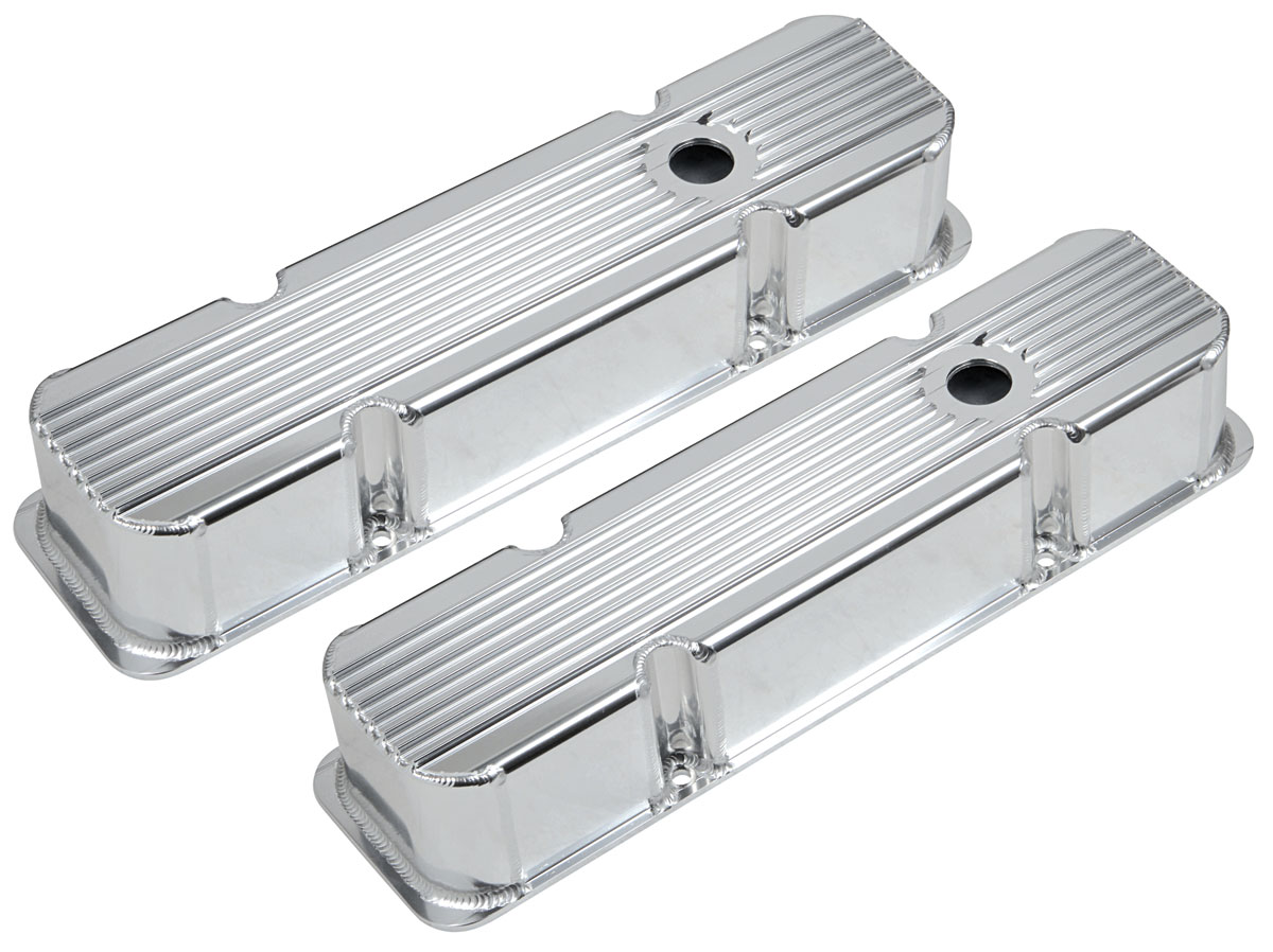 Photo of Valve Covers, Finned, Fabricated Small Block