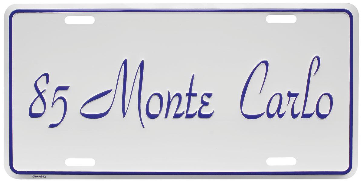 "Photo of License Plate, ""El Camino"" (Custom Embossed) Monte Carlo"