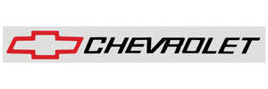 "1964-77 Chevelle Bowtie Decal, Red 2-1/2"" X 24"", w/Black Chevrolet"