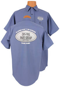 1978-1988 El Camino Original Parts Group Shop Shirt Blue