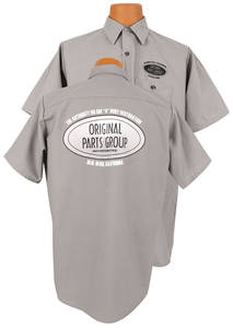 1964-1973 GTO Original Parts Group Shop Shirt Gray