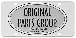 Original Parts Group License Plates