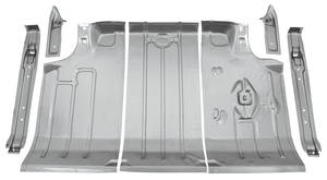 1964-1967 LeMans Trunk Pan Kits, Steel 7-Piece