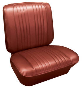 Seat Upholstery, 1965 Bonneville Split Bench w/Coupe Rear