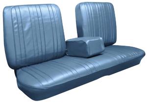 Seat Upholstery, 1967 Bonneville Split Bench (w/Armrest)