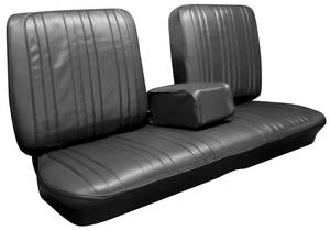 1967-1967 Bonneville Seat Upholstery, 1967 Bonneville Split Bench w/Coupe Rear, by PUI