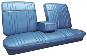 Seat Upholstery, 1968 Bonneville Split Bench (w/Armrest)