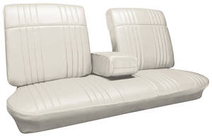Seat Upholstery, 1968 Bonneville Split Bench w/Coupe Rear