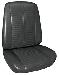 1967-1967 Catalina Seat Upholstery, 1967 Catalina 2+2 Buckets, by PUI