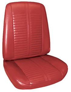 Seat Upholstery, 1967 Catalina 2+2 Buckets w/Coupe Rear
