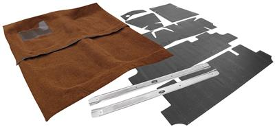 1961-64 Carpet Kit, Complete Original Style Molded Carpet Bonneville, 4-dr. HT/Sedan, 4-Speed, Loop (2-Pieces)