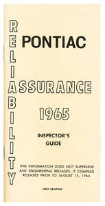 1965-1965 Bonneville Inspectors Guides, 1965 Pontiac