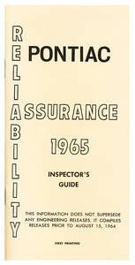 Inspectors Guides, 1965 Pontiac