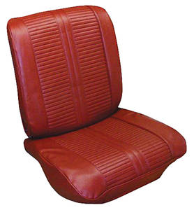 Seat Upholstery, 1963 Grand Prix & Parisienne Rear Seat, Coupe (w/Armrest)