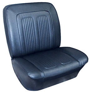 Seat Upholstery, 1964 Grand Prix & Parisienne Rear Seat, Convertible (Parisienne Only)