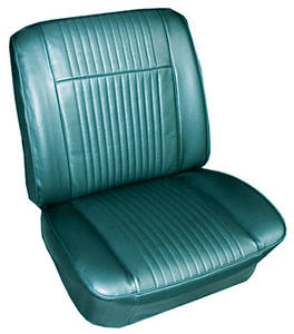 1965-1965 Grand Prix Seat Upholstery, 1965 Grand Prix Buckets w/Coupe (w/Armrest) Rear, by PUI