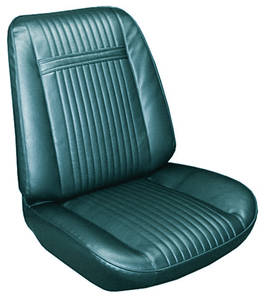 1966-1966 Grand Prix Seat Upholstery, 1966 Grand Prix Rear Seat, Coupe w/Armrest, by PUI