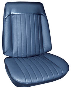 Seat Upholstery, 1969 Grand Prix Buckets w/Coupe Rear