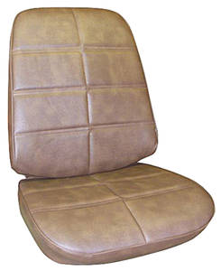 Seat Upholstery, 1971 Grand Prix Buckets w/Coupe Rear