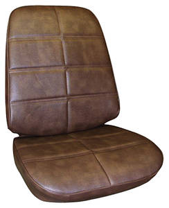 Seat Upholstery, 1972 Grand Prix Buckets w/Coupe Rear