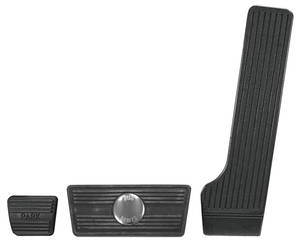 1964-67 Chevelle Pedal Pad Kits, Complete Automatic w/Disc (3)