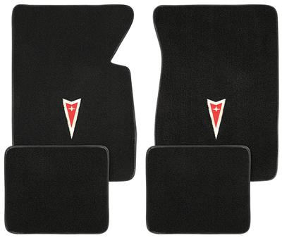1959-1976 Bonneville Floor Mats, Carpet Matched Oem Style Carpet Arrowhead Logo, Bonneville & Catalina, by ACC