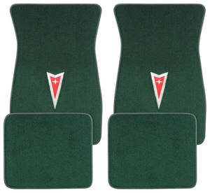 1961-73 GTO Floor Mats, Carpet Matched Oem Style Arrowhead