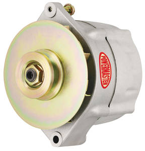 1964-77 Chevelle Alternator, Smooth Look 1-Groove Pulley Natural, 100-Amp, by POWERMASTER