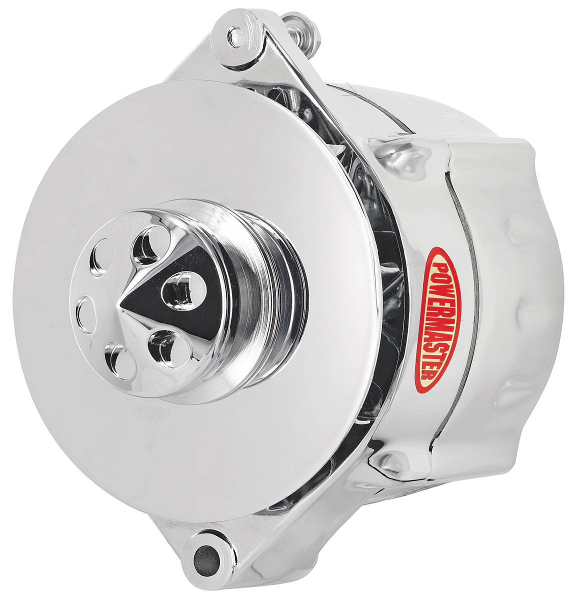 Photo of Alternator, Smooth Look 6-Groove Serpentine Pulley polished, 150-amp